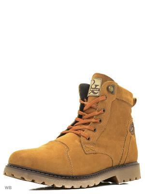 Ботинки GassA. Цвет: рыжий