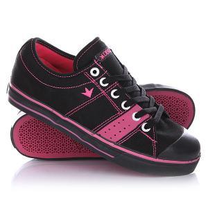 Кеды кроссовки низкие  Deuce Black/Magenta Dekline. Цвет: черный,розовый