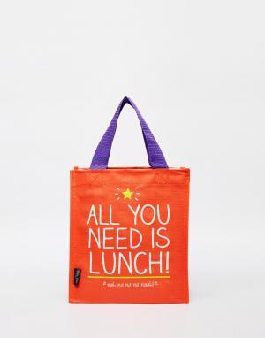 Happy Jackson Сумка для ланча с принтом All You Need Is Lunch. Цвет: красный