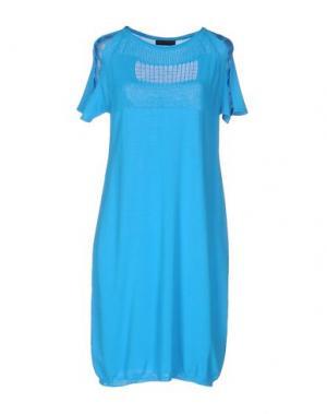 Короткое платье OBLIQUE CREATIONS. Цвет: бирюзовый