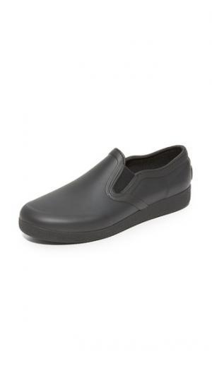 Оригинальные изящные резиновые кроссовки без шнурков Hunter Boots. Цвет: голубой