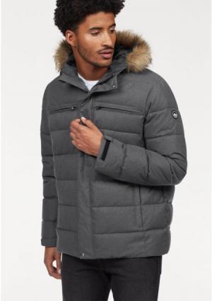 Куртка POLARINO. Цвет: серый меланжевый