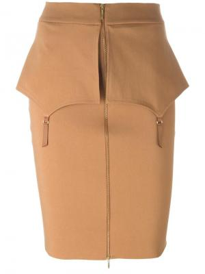 Fold skirt Murmur. Цвет: коричневый