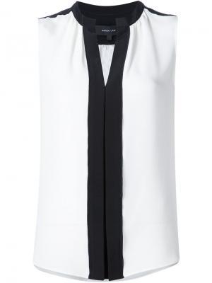 Блузка без рукавов Derek Lam. Цвет: белый