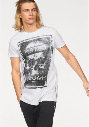 Удлиненная футболка JOHN DEVIN. Цвет: белый