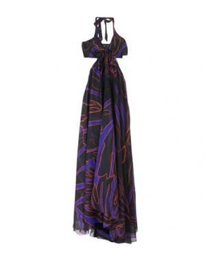 Длинное платье PINKO. Цвет: фиолетовый