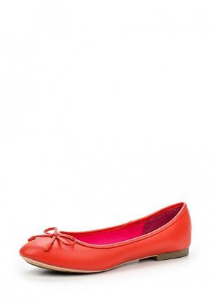 Балетки United Colors of Benetton. Цвет: оранжевый