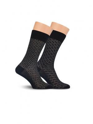 Носки, 2 пары Cascatto. Цвет: черный, бордовый, желтый