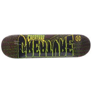 Дека для скейтборда  Ass Backwards Dm Brown 8.375 (21.3 см) Creature. Цвет: коричневый,черный,желтый,зеленый