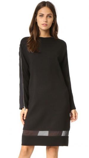 Платье-свитер Aimee с молниями Rag & Bone. Цвет: голубой