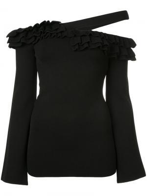 Асимметричное платье Rosita Rebecca Vallance. Цвет: чёрный