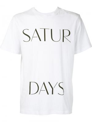 Футболка Satur Days Saturdays Surf Nyc. Цвет: белый