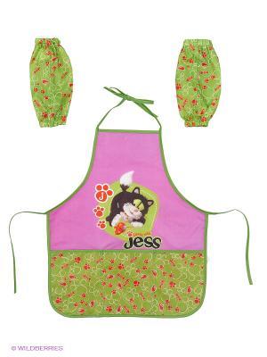 Фартук для детского творчества Guess with Jess Action!. Цвет: салатовый, розовый