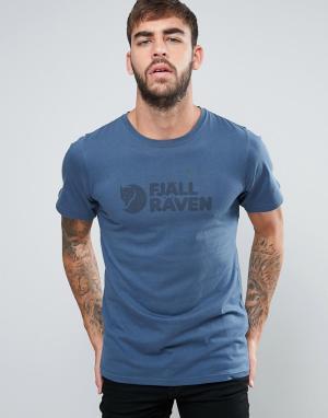 Fjallraven Синяя футболка. Цвет: синий