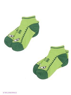 Носки, 2 шт Хох. Цвет: зеленый
