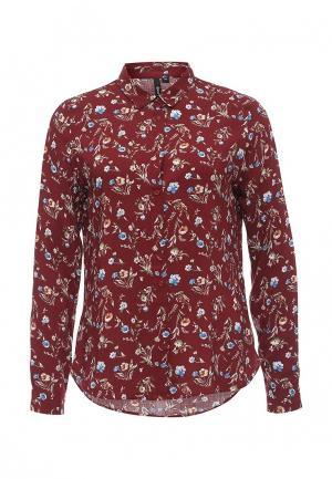 Блуза oodji. Цвет: бордовый