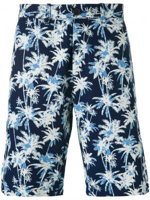 Шорты с принтом пальм Edwin. Цвет: синий