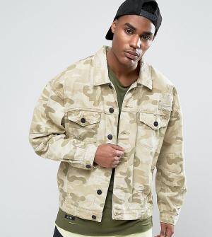 Cayler & Sons Состаренная джинсовая куртка с камуфляжным принтом. Цвет: бежевый