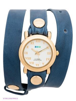 Часы La Mer Collections. Цвет: темно-синий, золотистый