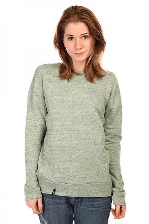 Толстовка свитшот женская  Sweatshort Zip Green Emblem. Цвет: зеленый