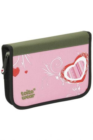Пенал TOITO WEAR. Цвет: розовый