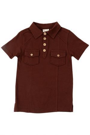 Рубашка-поло Fore!! Axel and Hudson. Цвет: коричневый