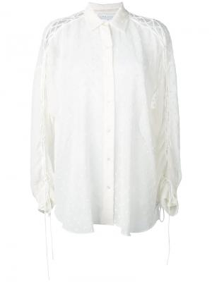 Рубашка со шнуровкой на рукавах Iro. Цвет: телесный