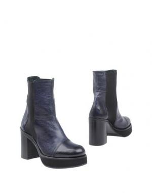 Полусапоги и высокие ботинки KEB. Цвет: темно-синий