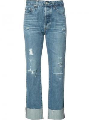 Укороченные джинсы бойфренды Ag Jeans. Цвет: синий