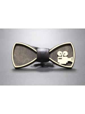 Деревянная галстук-бабочка Farfalla-rus. Цвет: черный