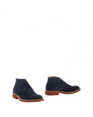 Полусапоги и высокие ботинки SIMONE MARIOTTI. Цвет: темно-синий