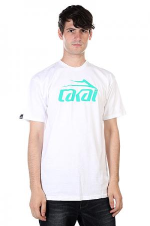 Футболка  Logo White Lakai. Цвет: белый