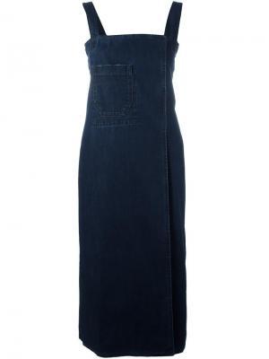 Джинсовое платье Wrap Each X Other. Цвет: синий