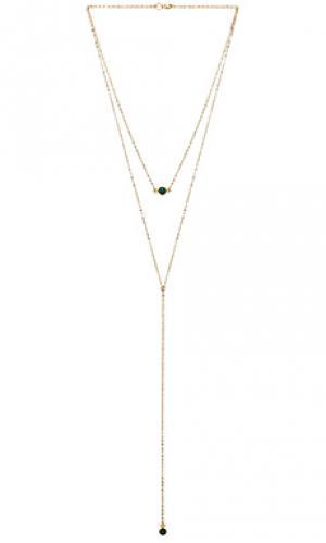 Многорядное ожерелье gibson Mimi & Lu. Цвет: металлический золотой
