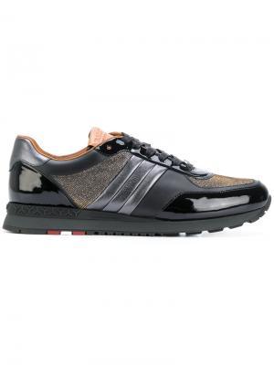 Metallic lace-up sneakers Bally. Цвет: чёрный