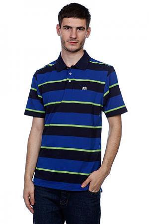 Поло  Strolo Striped Blue Enjoi. Цвет: голубой,черный