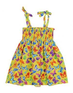 Пляжное платье MC2 SAINT BARTH. Цвет: желтый