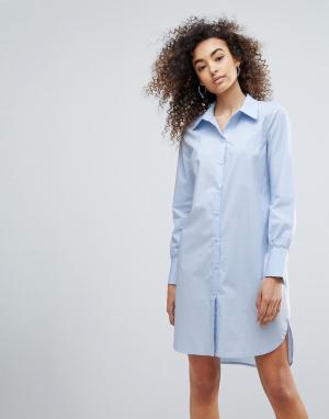 Gestuz Удлиненная рубашка Valla. Цвет: синий