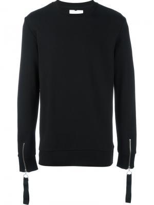 Zipped cuff sweatshirt Matthew Miller. Цвет: чёрный