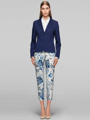 Джинсы Elegance. Цвет: белый, синий