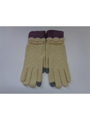 Перчатки Cascatto. Цвет: бежевый, желтый