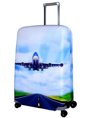 Чехол для чемодана Plane L/XL Coverway. Цвет: голубой