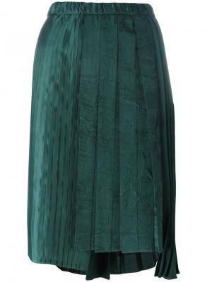 Плиссированная юбка Nº21. Цвет: зелёный