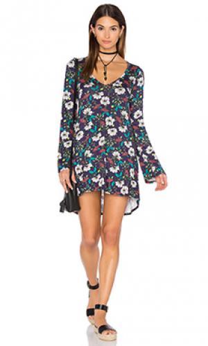Платье с длинным рукавом kyle Michael Lauren. Цвет: синий