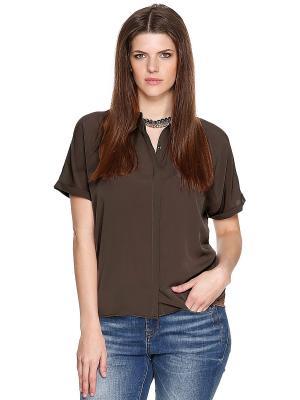 Блузка S.OLIVER. Цвет: коричневый