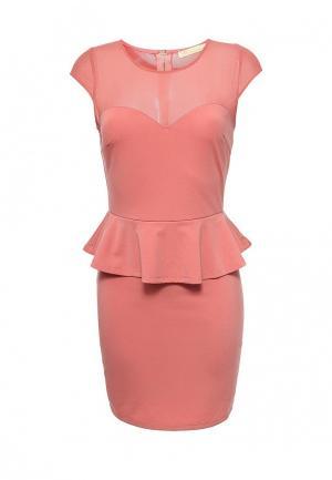 Платье Katelina. Цвет: коралловый