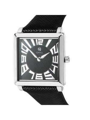 Часы ювелирные коллекция Q-Four, QWILL, Часовой завод Ника QWILL. Цвет: черный
