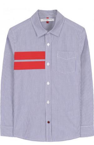 Хлопковая рубашка с контрастной отделкой Givenchy. Цвет: красный