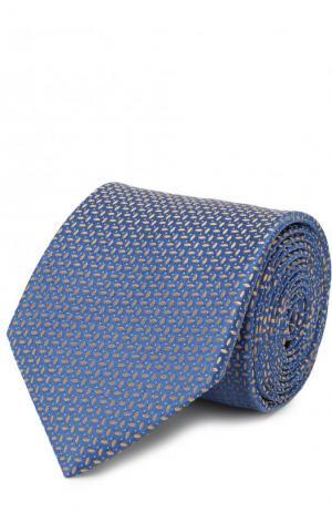 Шелковый платок с узором Eton. Цвет: голубой