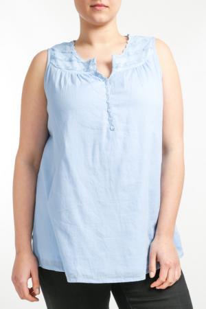 Блуза Zizzi. Цвет: синий